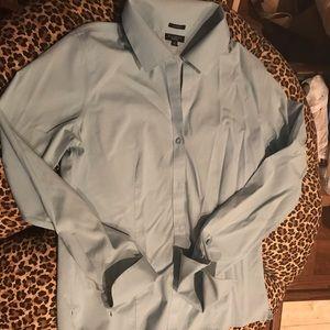Talbots Wrinkle Resistant light blue shirt 10